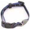COMFY Ошейник MEG  (24^50х1 см) синий со светоотражающими лапками, нейлон