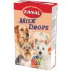 SD2305 SANAL  д/собак Milk Drops 125г (Молочные дропсы + Вит. A, D, E)